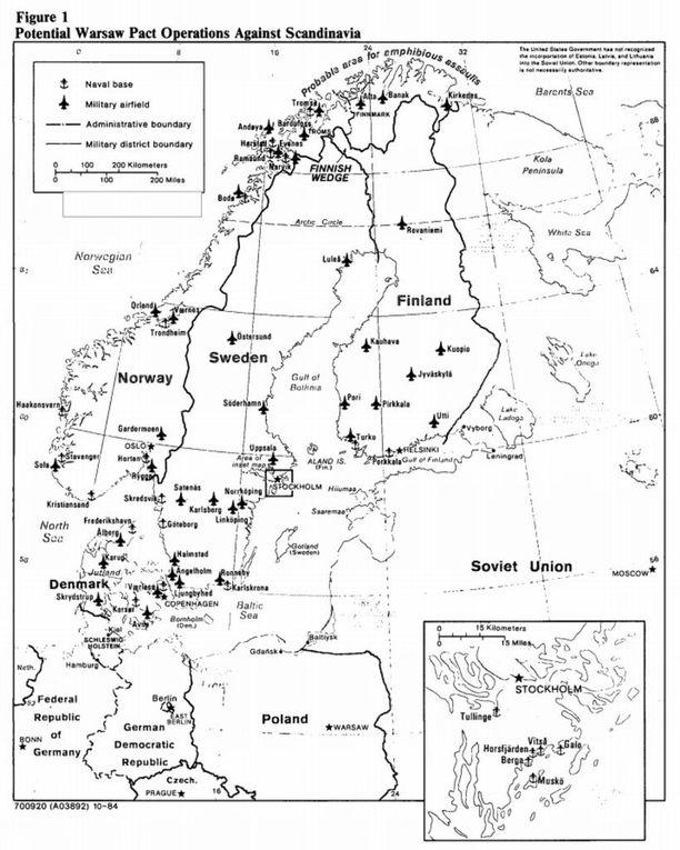 CIA:n raportissa perattiin yksityiskohtaisesti Pohjoismaiden puolustusvoimia.