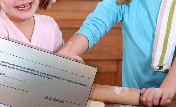 Rehtorin mukaan kyse on siitä, että viidesluokkalaisia on menossa ensimmäistä kertaa opiskelemaan kotitaloutta. Kuvituskuva.