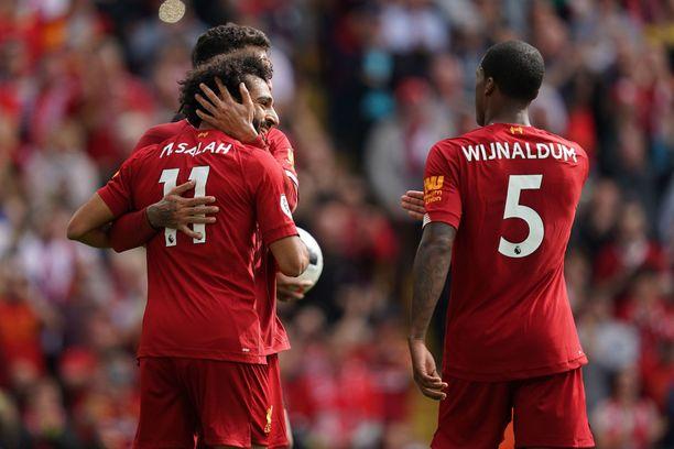 Mo Salah ja kumppanit hyökkäävät Unitedin kimppuun.