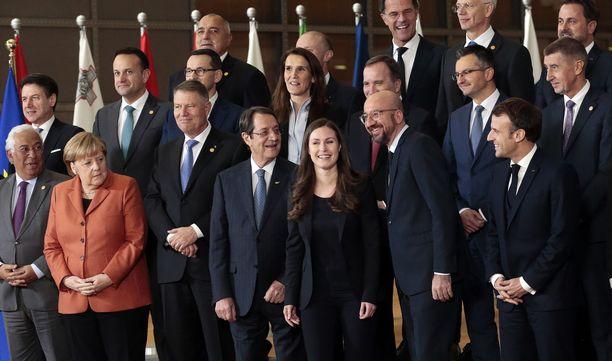 Joulukuussa 2019 Suomen pääministeri Sanna Marin oli ensimmäistä kertaa EU:n valtionpäämiesten kokouksessa mukana.