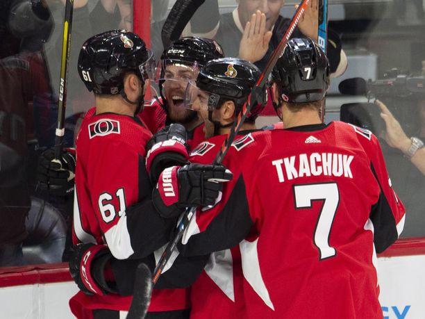 Ottawa Senatorsin peleissä on tuuleteltu tällä kaudella maaleja oikein urakalla.