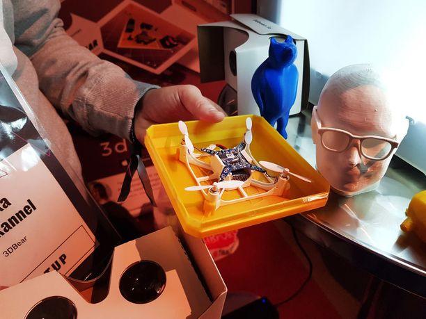 Sovelluksen avulla voi luoda vaikka 3D-tulostetun kopterin.