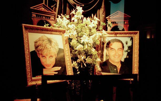 Rakastettu prinsessa Diana ja Dodi Al-Fayed kuolivat kolarissa vuonna 1997.