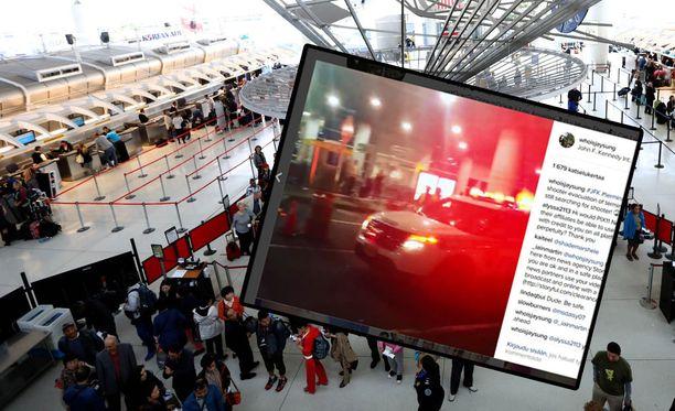 John F. Kennedyn kansainvälisellä lentoasemalla New Yorkissa evakuoitiin tänään ihmisiä.