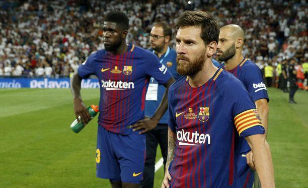 Lionel Messi ja kumppanit saivat seurata vierestä, kun Real Madrid juhli Supercopan voittoa.