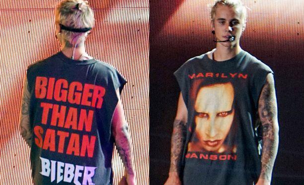 Tästä Justin Bieberin käyttämästä paidasta nousi älämölö.