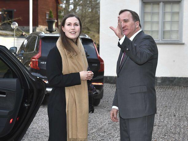 Pääministerit. Suomen pääministeri Sanna Marin ja Ruotsin pääministeri Stefan Löven tapasivat Ruotsin Harpsundissa tänään keskiviikkona.