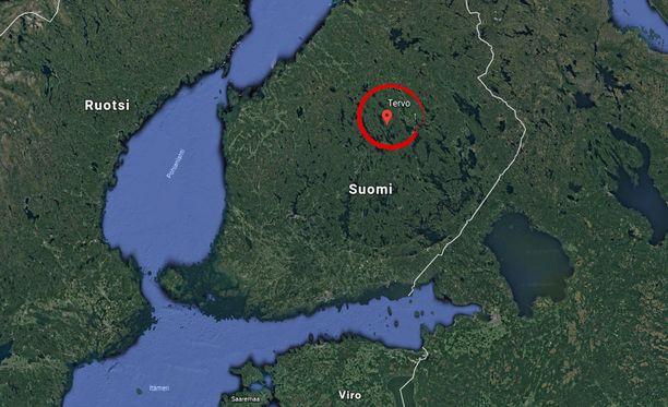 Tapaus sattui Pohjois-Savon Tervossa myöhään maanantai-iltana.