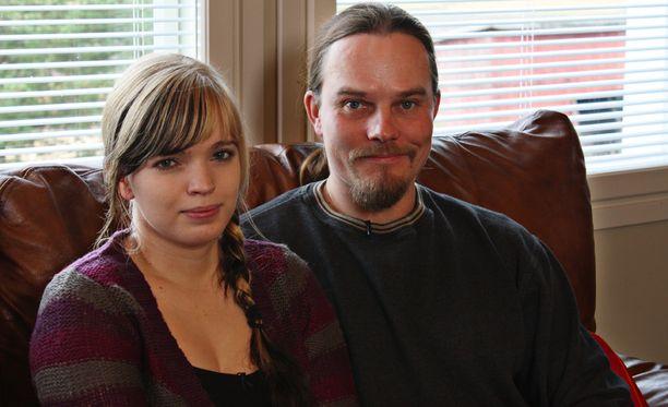 Johanna ja Ville vuonna 2012.