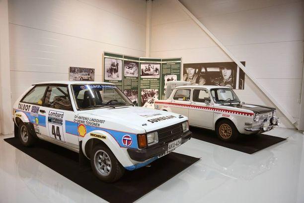 Timantti-osastolla on kaksi Henri Toivosen uran alkuaikojen kilpa-autoa, Talbot Sunbeam Lotus ja Simca 1000 Rallye 2.