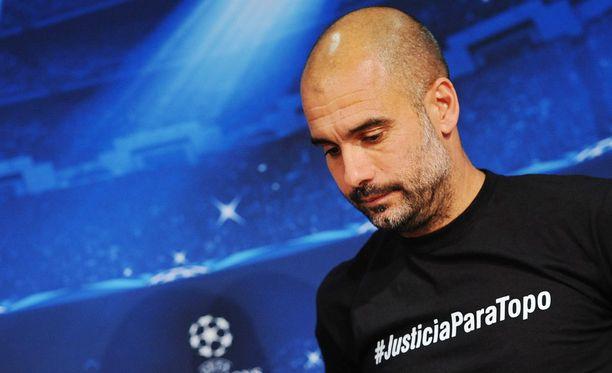 Pep Guardiolaa uhkaa rangaistus Euroopan jalkapalloliitolta.