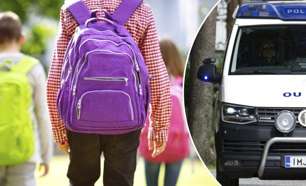 Poliisilla oli Rovaniemellä saman päivän aikana kaksi etsintätehtävää, joissa lapsi oli kadonnut koulumatkalla. Kuvituskuva.