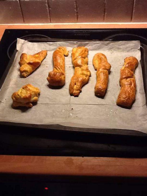 Ei, kukaan ei ole tehnyt tarpeitaan uniin vaan kuvassa on Emilian croissantit.