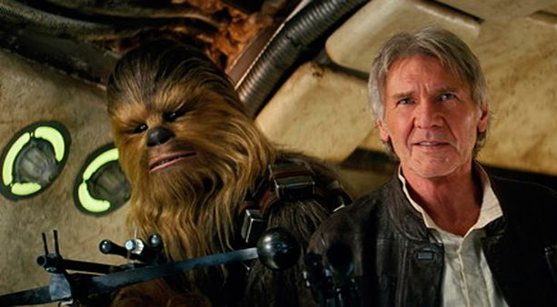Chewbacca on Han Solon (Harrison Ford) aisapari Star Wars -elokuvissa.
