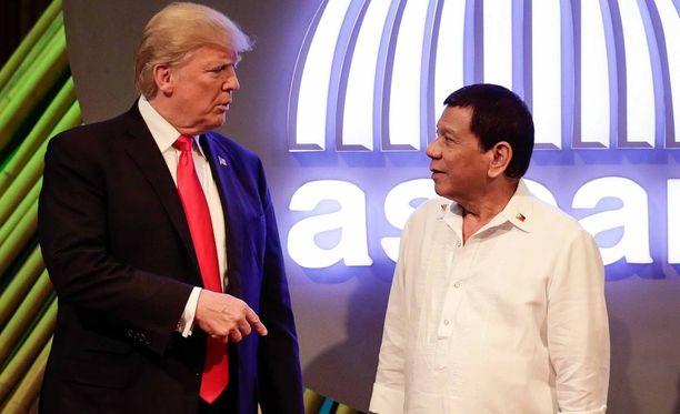 Trump ja Duterte tuntuivat tulevan keskenään toimeen erittäin hyvin.