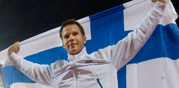 Tero Pitkämäki haki pronssimitalin 2008 Pekingistä.