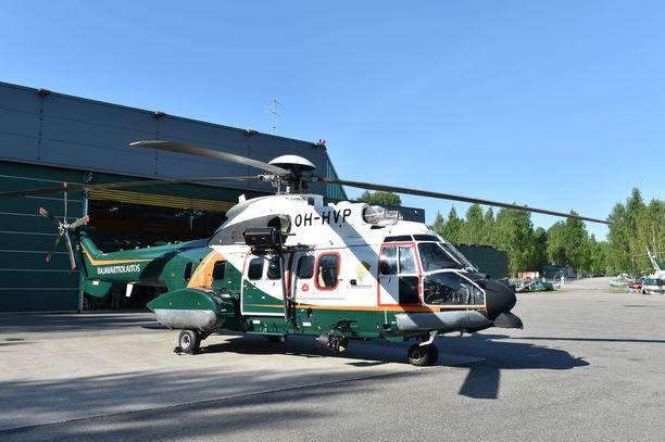 Super Puma -helikopteri hälytettiin apuun. Arkistokuva.