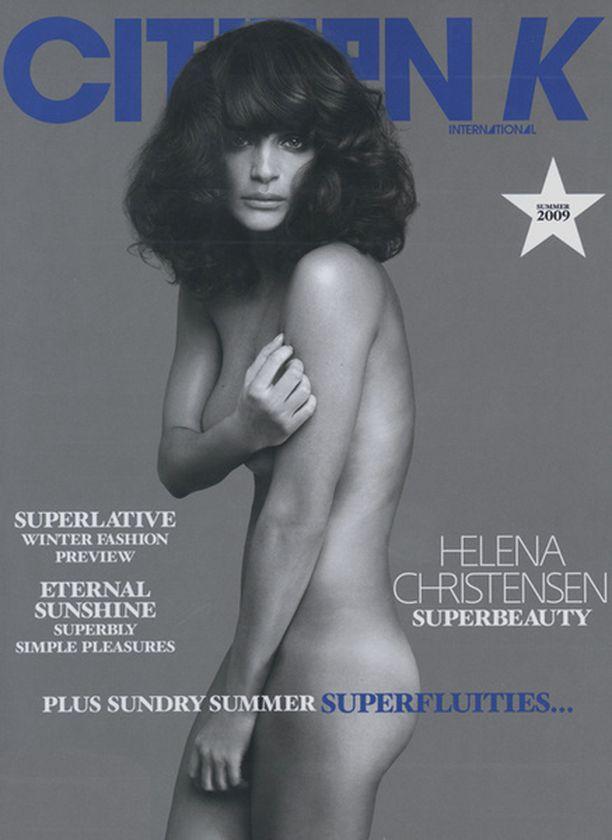 Helena Christensen, 40, toimii yhä mallina.