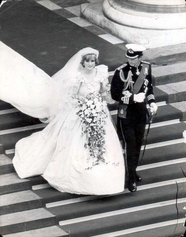 Dianan puvun laahus oli yli seitsemän metriä.