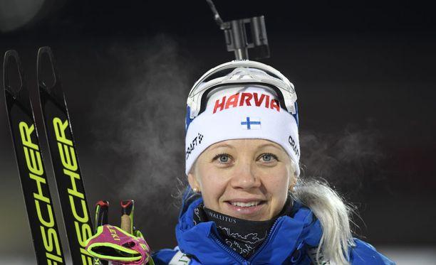 Kaisa Mäkäräinen on tällä kaudella tienannut maailmancupissa palkintorahaa 45 000 euroa ja liivibonusta 3 000 euroa.