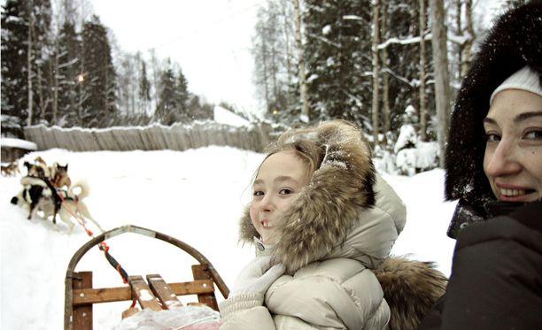 Venäläisturisteja Lapissa vuonna 2012.