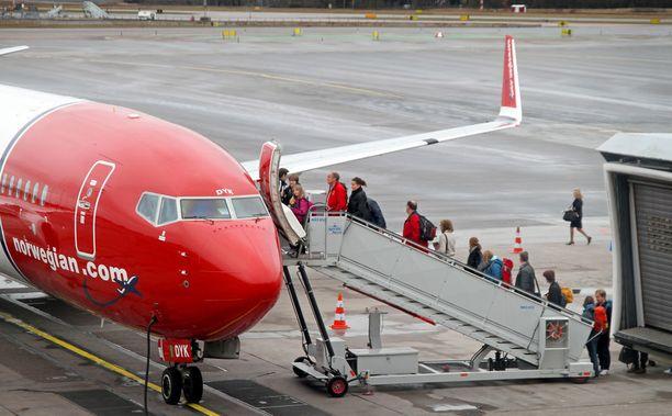 Lentoyhtiön mukaan syynä peruutuksiin oli ilmassa olleeseen koneeseen osunut lintu. Kuvituskuva.