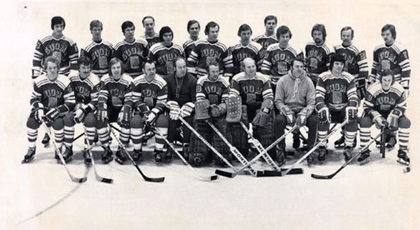Juhani Tamminen ja Matti Murto pelasivat samassa maajoukkueessa.