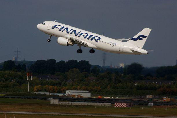 Finnairin Turkin-lennon matkustajamäärää piti vähentää sairaustapauksen vuoksi. Kuvituskuva.