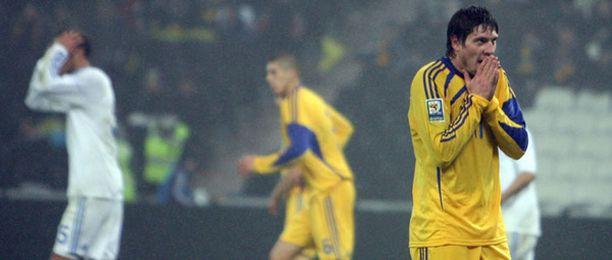Ukraina ei yltänyt toistamiseen peräkkäin MM-kisoihin.Saksassa 2006 maa ylsi neljännesvälieriin.