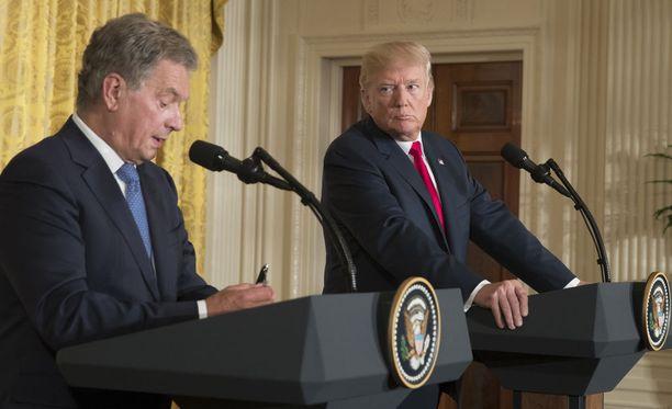 Presidentit Niinistö ja Trump kohtasivat elokuussa 2017 Washingtonissa.