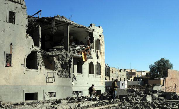 Jemenin pääkaupunki Sanaa oli joulukuussa ilmahyökkäyksen kohteena.