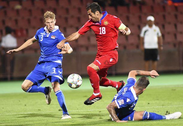 Liechtensteinin puolustus ei saanut Henrikh Mkhitaryania kuriin Kansojen liigassa.