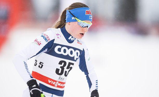 Johanna Matintalo oli kuudes perinteisen kympillä nuorten MM-kisoissa.