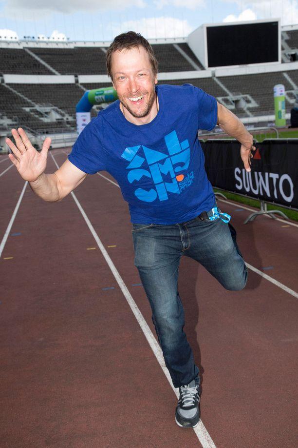 """Mikko """"Peltsi"""" Peltola osallistui lauantaina jo toiselle puolimaratonille kahden päivän sisään."""