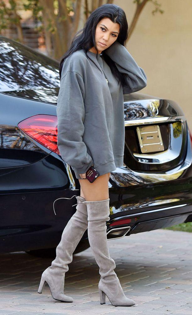 Kourtney Kardashianin tyylinäyte.