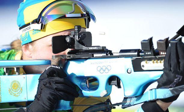 Kazakstanin ampumahiihdon yllä leijuu synkkä epäilyksen varjo. Kuvituskuva.