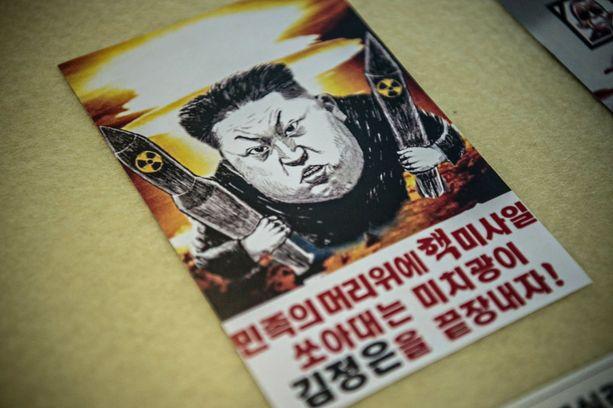 Etelä-Koreassa on viljalti karikatyyrejä Pohjois-Korean johtajasta Kim Jong-unista.