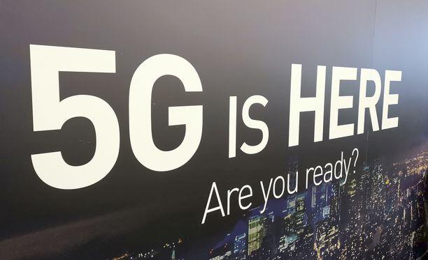 5G oli suuresti esillä Barcelonan MWC-mobiilimessuilla.