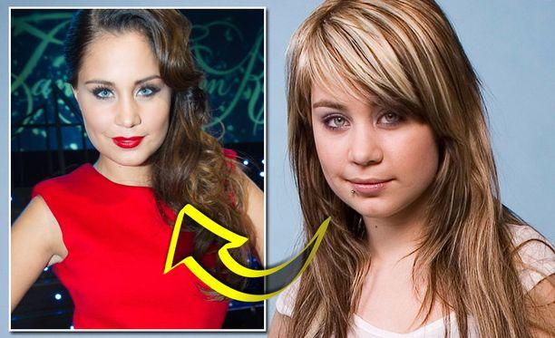 Tanssii tähtien kanssa -ohjelmassa on nähty entistä naisellisempi Anna. Oikean puoleinen kuva on otettu Idols-kilpailun aikaan 2007.