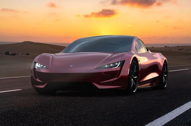 Tesla Roadster on jo perusmallina yksi maailman nopeimmin kiihtyvistä autoista.
