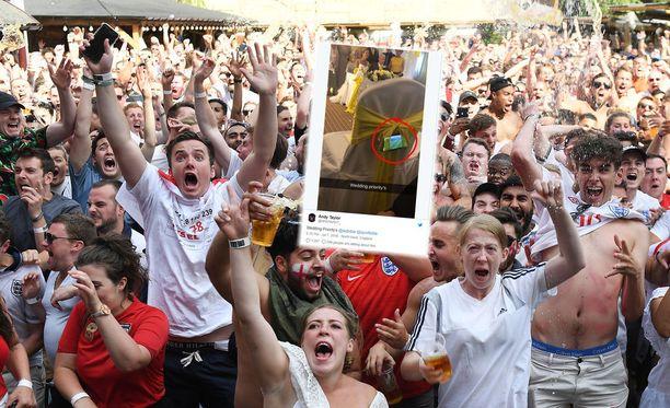 Englannin voitto sai riemun ylimmilleen maajoukkueen kannattajien keskuudessa.