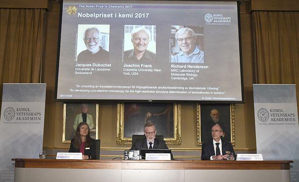 Kemian Nobel annettiin tänä vuonna kryoelektronimikroskopian pioneereille.