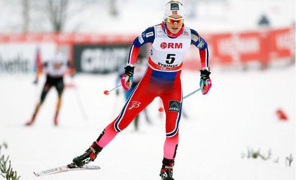 Martine Ek Hagenin uran paras henkilökohtainen maailmancup-sijoitus, toinen sija, tuli Rybinskin yhdistelmäkilpailussa tammikuussa 2015.