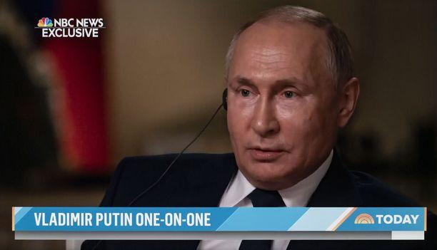Vladimir Putin antoi NBC Newsille erikoishaastattelun ennen Geneven tapaamista.