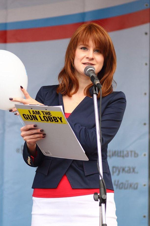 Maria Butina on Oikeus aseenkantoon -ryhmän perustaja.
