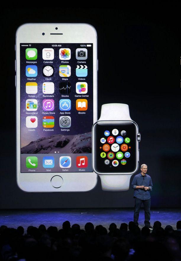 Applen uutuuksia ovat aiempaa isompinäyttöisemmät iPhone 6 ja iPhone 6 Plus sekä älykello Apple Watch.