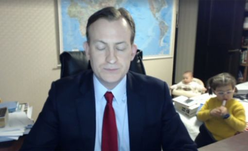 BBC:n uutisten live-lähetyksessä nähtiin hellyttävä episodi.