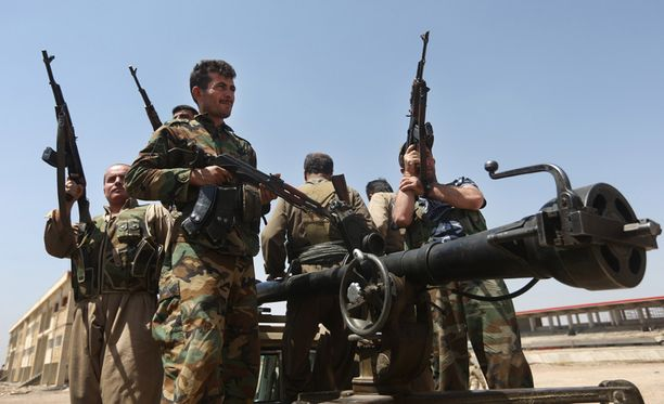 Kurdien Peshmerga-joukot taistelevat Irakissa Isis-järjestöä vastaan.