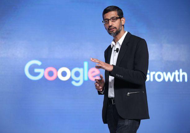 Googlen toimitusjohtaja Sundar Pichai sanoi tviitissään pettyneensä.