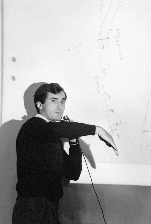 Franz Wittmann selvitti piirroksen avulla näkemystään onnettomuudesta.